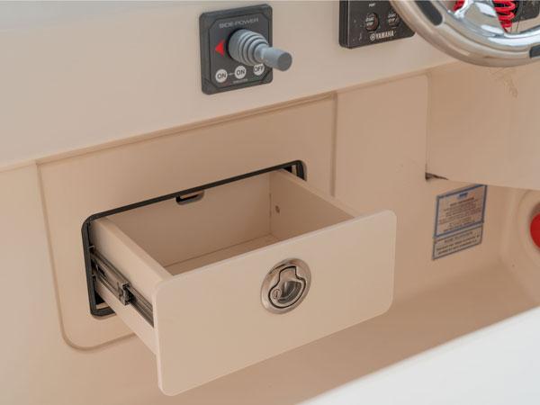 The Grady-White Freedom 285 storage