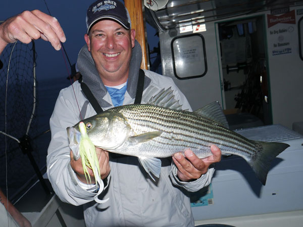 Party boat striped bass