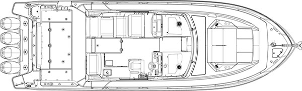 Boston Whaler 405 Conquest deckplan
