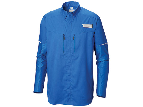 Men's PFG Force XII Zero Long-Sleeve Hybrid Shirt
