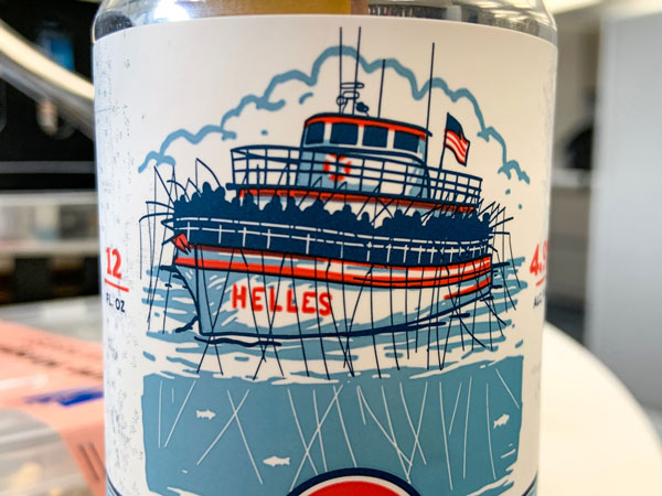 Head Boat Helles Lager closeup