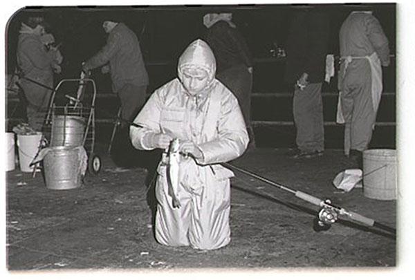 Bob Rosko catching whiting