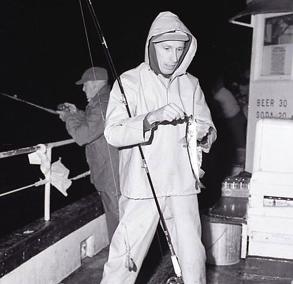 Milt Rosco aboard party boat with whiting