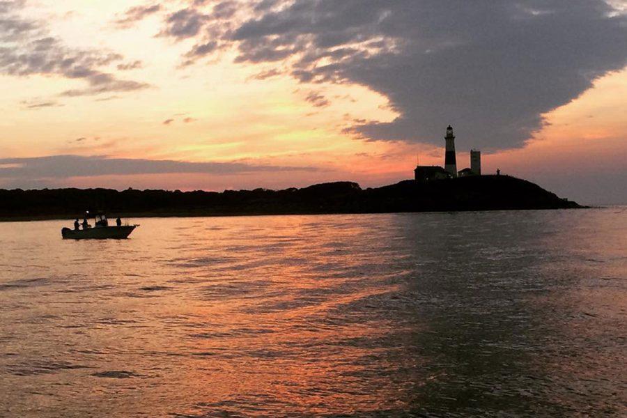 Montauk sunset fishing
