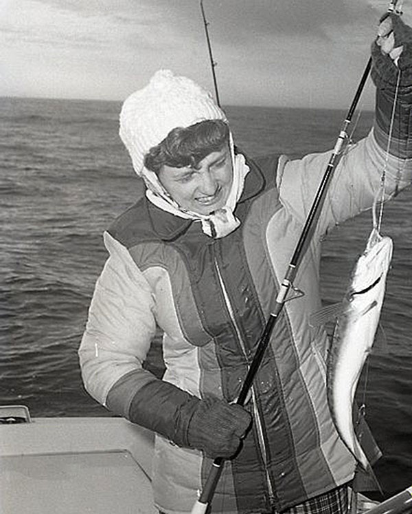 author's wife with whiting