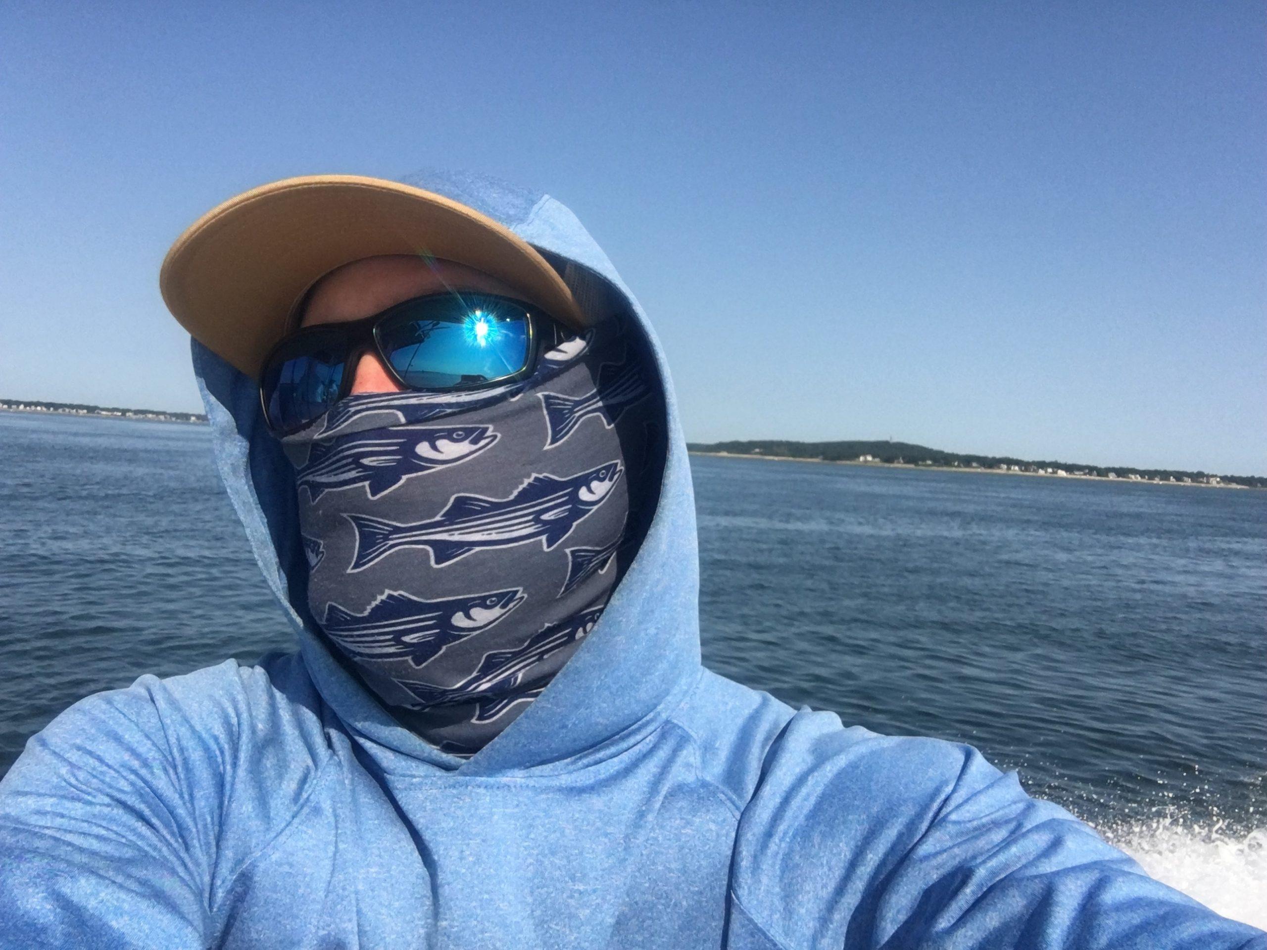 The Original Buff Headwear WHITE Salt Water Fly GREAT NEW