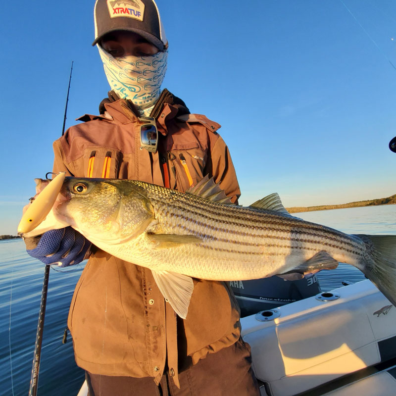 Capt. Brian Coombs striped bass
