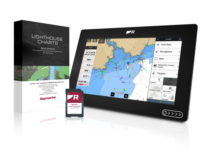 Raymarine Lighthouse Charts