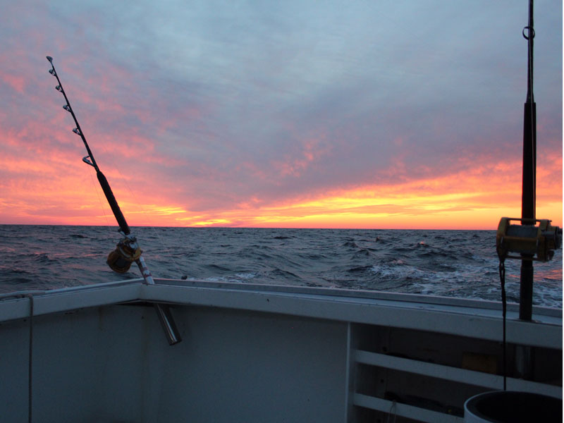 Sunset at 30 fathoms