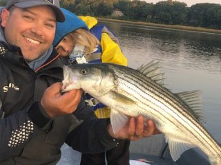 Lou and Lucy Tirado striped bass