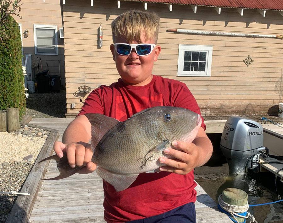 Luke landed a dinner-plate triggerfish