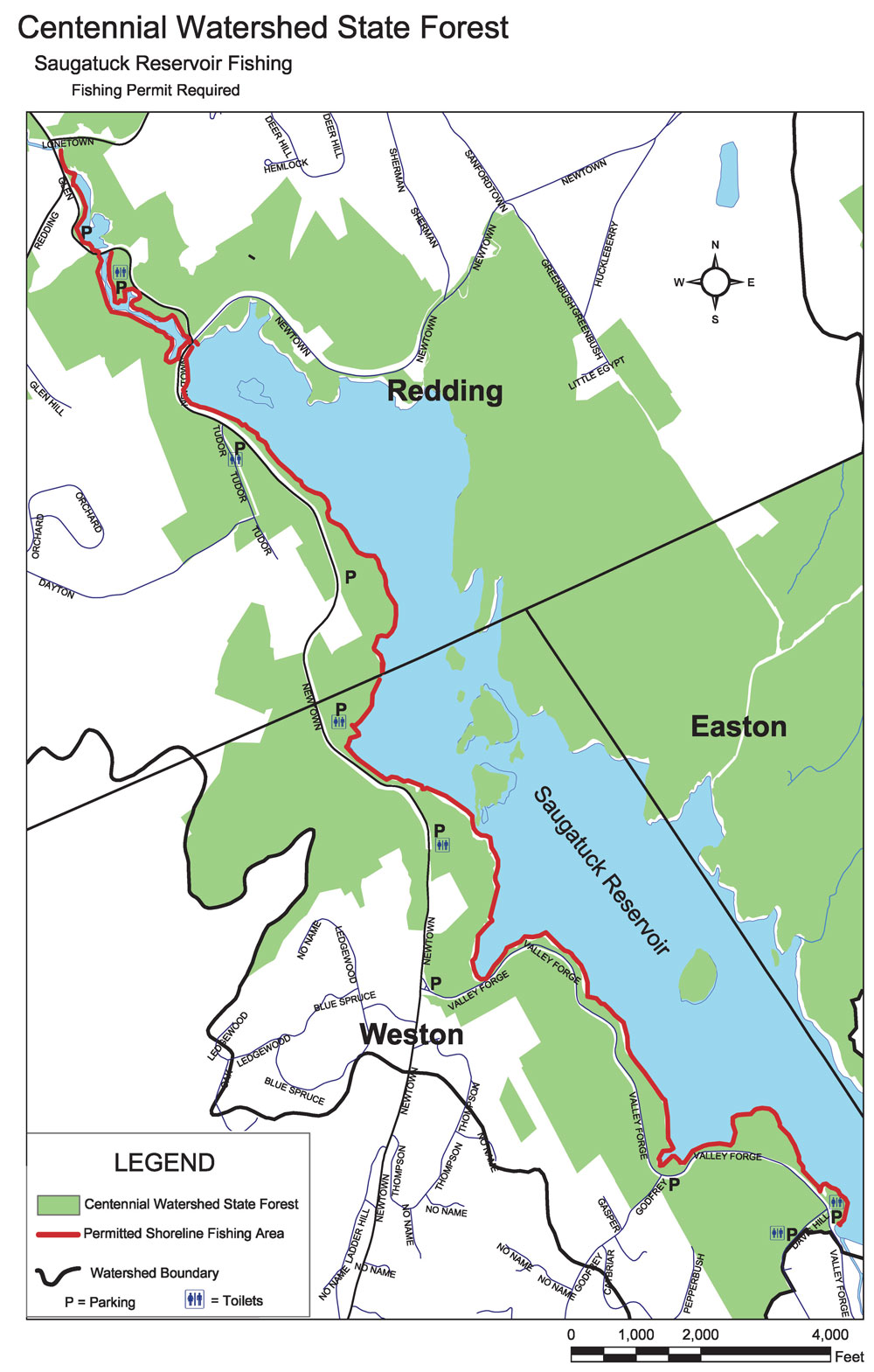 fishing Saugatuck map
