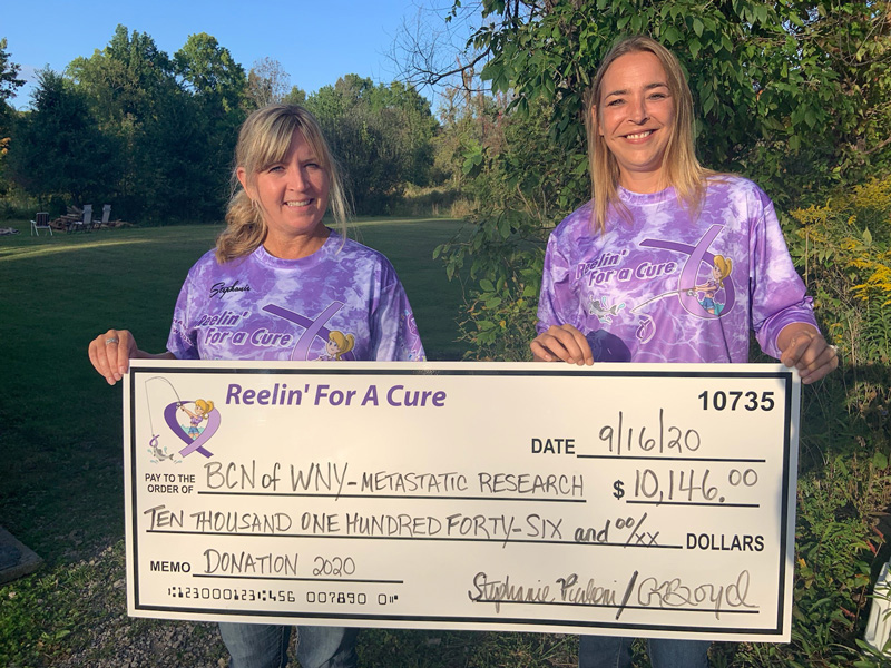 Reelin' for a Cure donation