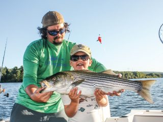 Landlocked Pennsylvania stripers can be found just 90 minutes north of Philadelphia at Beltzville Lake.