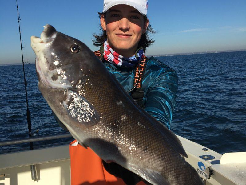 A blackfish caught aboard Capt. Stu Paterson's boat.