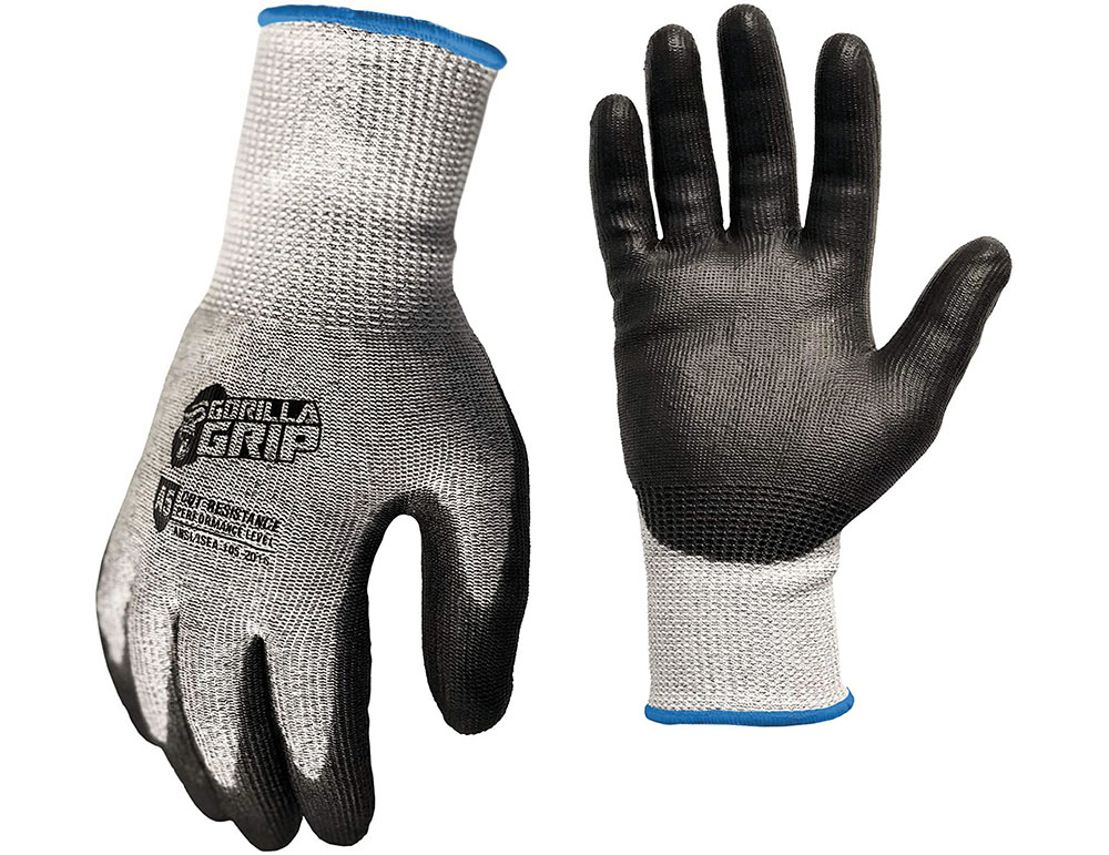 Gorilla Grip + ANSI Level 5 Cut Protection Gloves