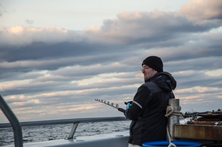 Heated handrails make winter bottom fishing a-okay on the open seas.