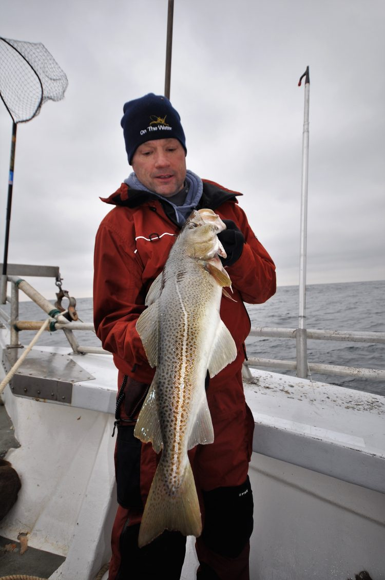 A guide to fishing for cod at Block Island with highlights about where to bottom fish, size regulations, rigs, bait, and more.