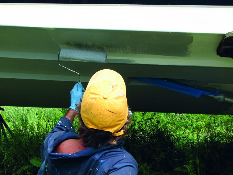 When the boat is dry-docked, it is a perfect time to have your hull patched and repainted.