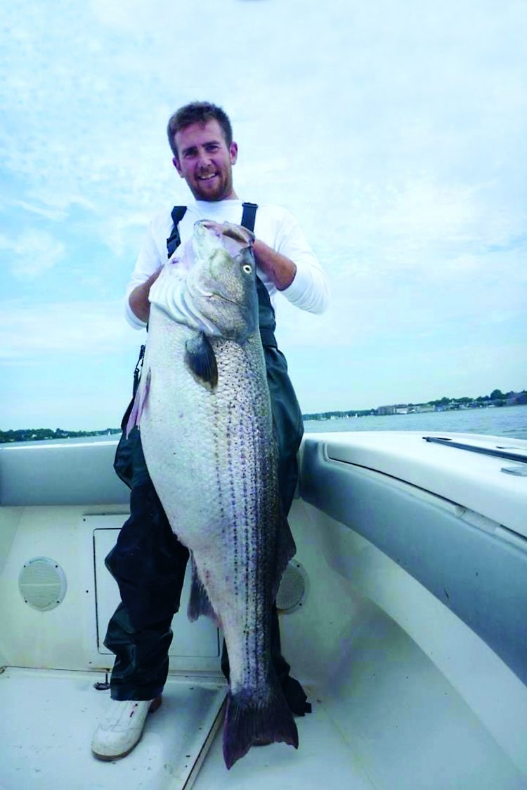 Captain Rob Taylor had missed two fish in a row before swinging for the fences and hooking into this 58-pounder.