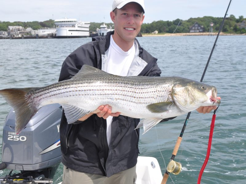 Fishermen are seeking a circle hook exemption when fishing for striped bass with tube-and-worm rigs and leadhead jigs.