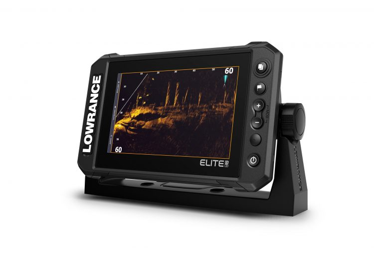 The Lowrance Elite FS Fishfinder Series is available in 7 and 9-inch displays.