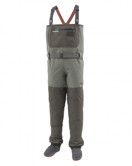The Simms Freestone Waders handle cold and inclement weather while offering mobility on trails, sand, and in the water.