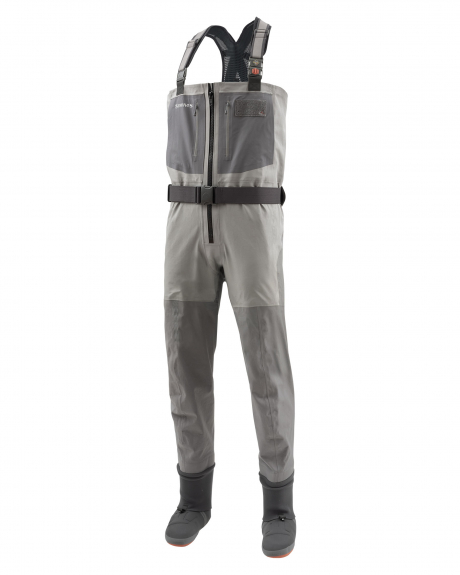 The G4Z Waders by Simms provide maximum comfort and durability for long days on the water.