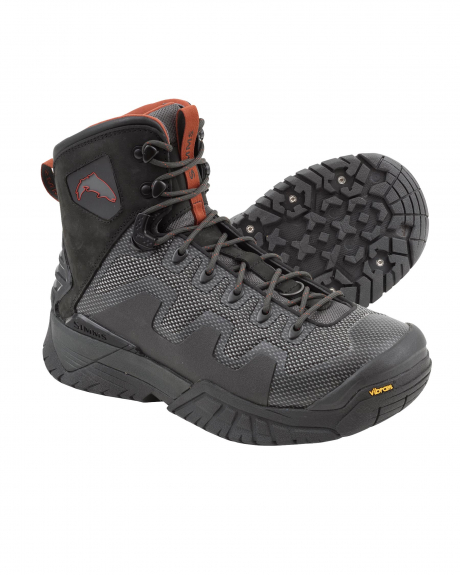 The Simms G4 Pro Wading Boots provide durability, agility, and an ergonomic fit for all fishermen.