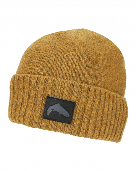 The Simms Dockwear Beanie is a timeless winter hat made with a blend of lambswool and stretchy nylon.