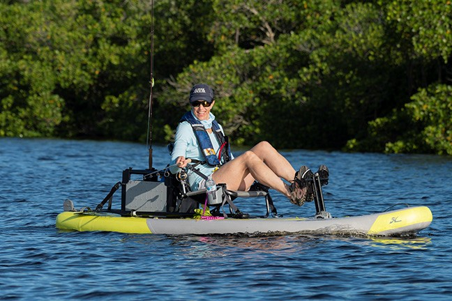The new Hobie iTrek kayak series inflates in 5-minutes, and is designed to go anywhere, and transport in anything.