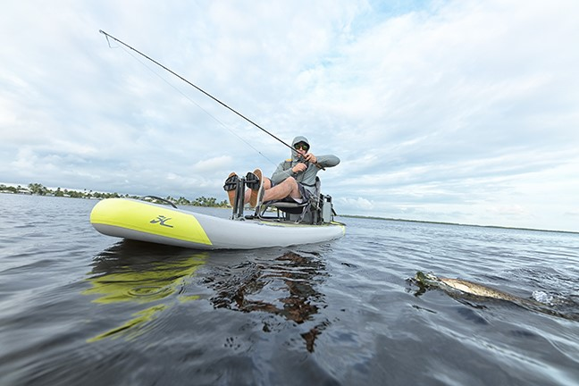Inflate your Hobie kayak in 5-minutes and fish, explore, tour, or exercise with a rigid and stable platform.
