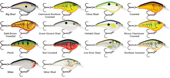 The Rapala OG Slim 6's ultra-thin circuit-board lip delivers the right action and attitude no matter how you fish it, triggering bites from big bass and other gamefish.