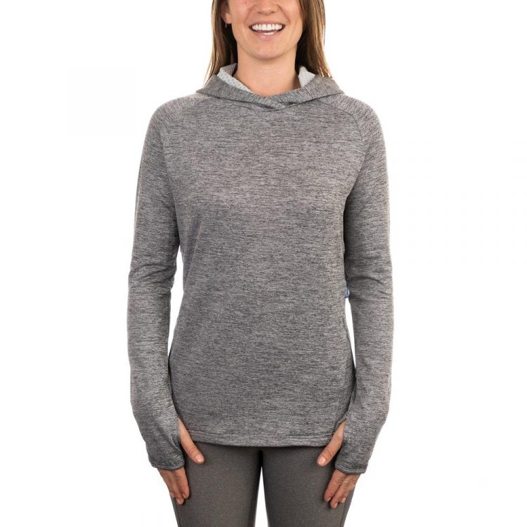 Designed with thermal fabric, the AFTCO Women's Hexatron Performance Hoodie is made for cool days, or it can be worn beneath a winter jacket on cold days.