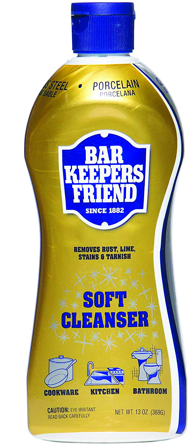 Bar Keepers Friend will assist in removing rust from your fillet knife.