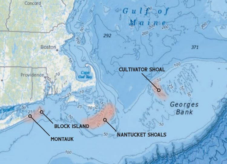 Block Island, Montauk, Cultivator Shoal, and the Nantucket Shoals offer opportunities at a trophy fluke.