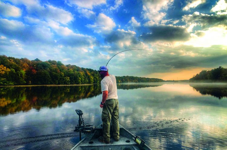 """Stephen """"Pogo"""" Pogodzienski specializes in fly-fishing for pike in Connecticut."""
