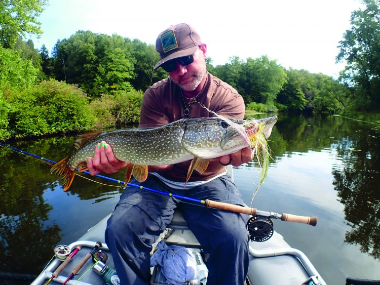 Finding pike through the year depends on the water temperature.