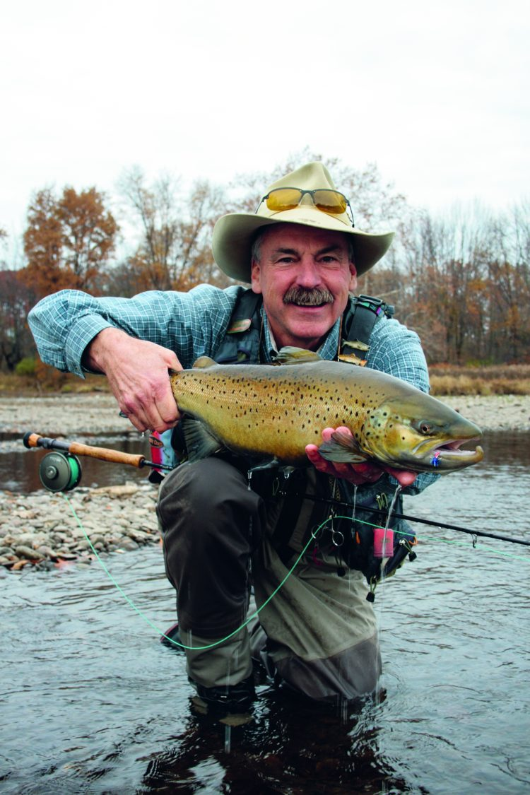 In the spring and fall, fishermen flock to Lake Ontario for a shot at large brown trout.