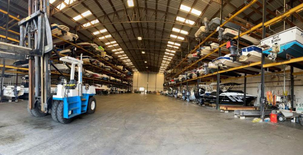 Rex Marine indoor boat storage