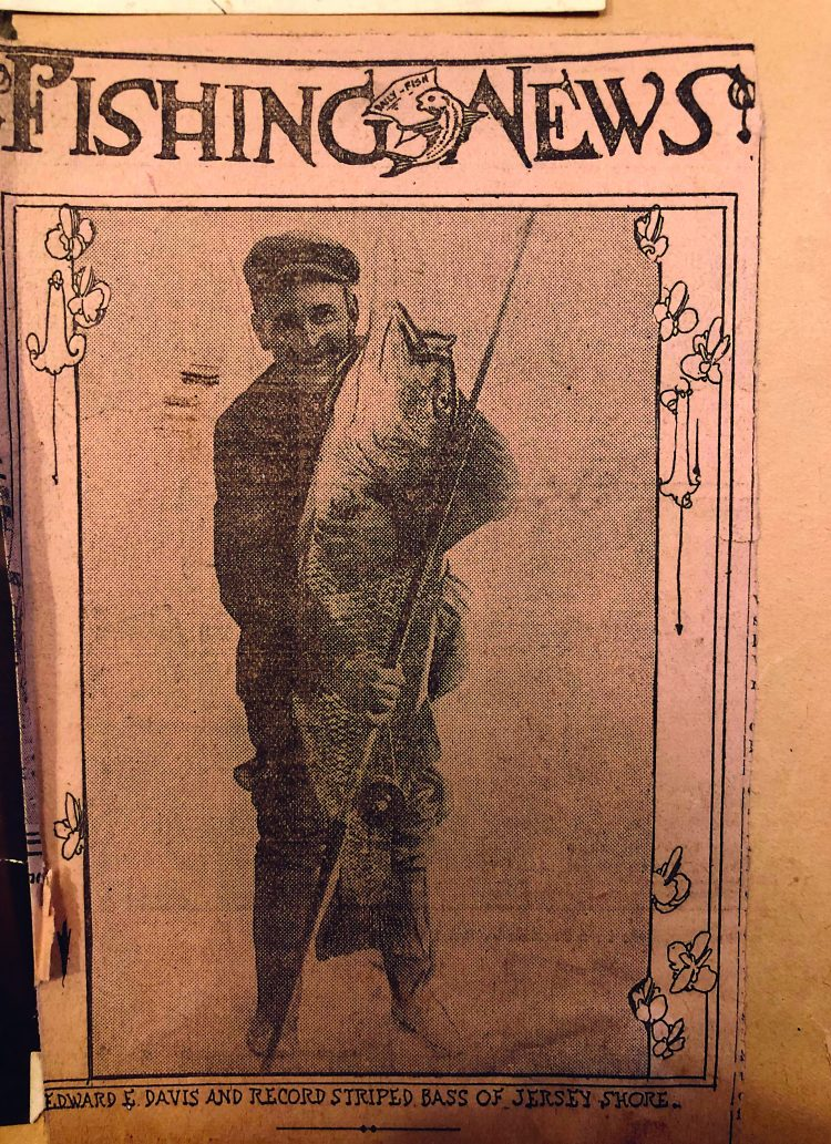 World Record Striped Bass 1913