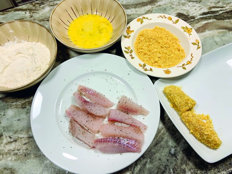 Fried Fish Dipping Station