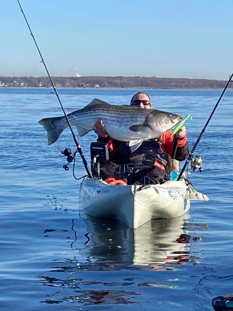 Kayak Fishing Striped Bass