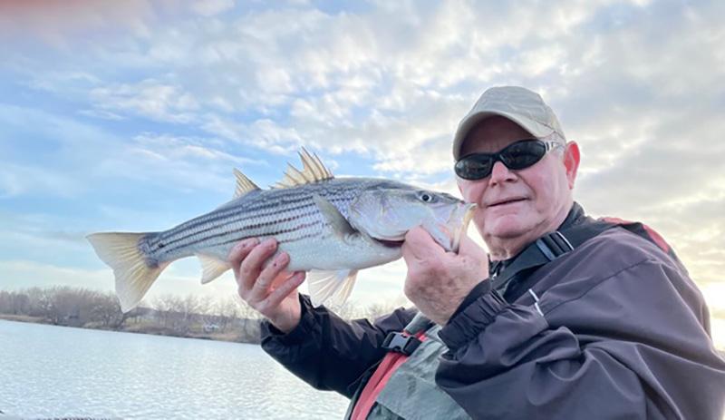 Captain Dave Panarello striped bass