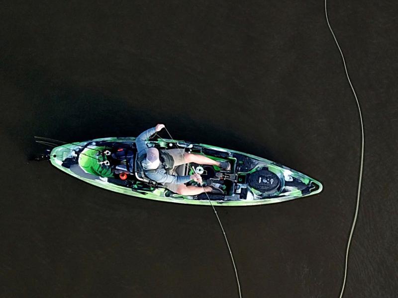 Kayak Fishing Drone Shot
