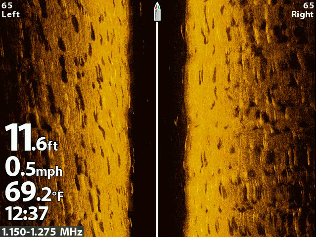 Side Scan Striper Marks