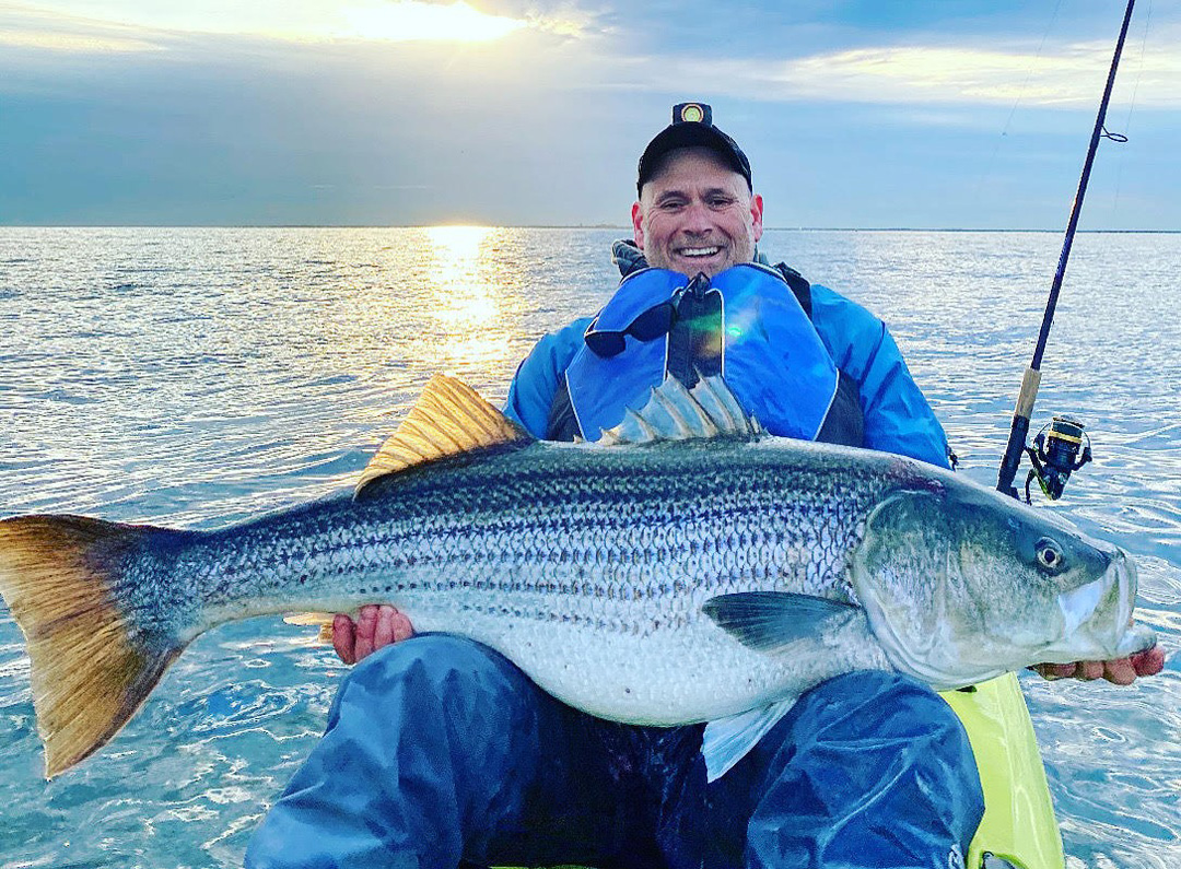 Mike Nolan Sr. kayak striped bass