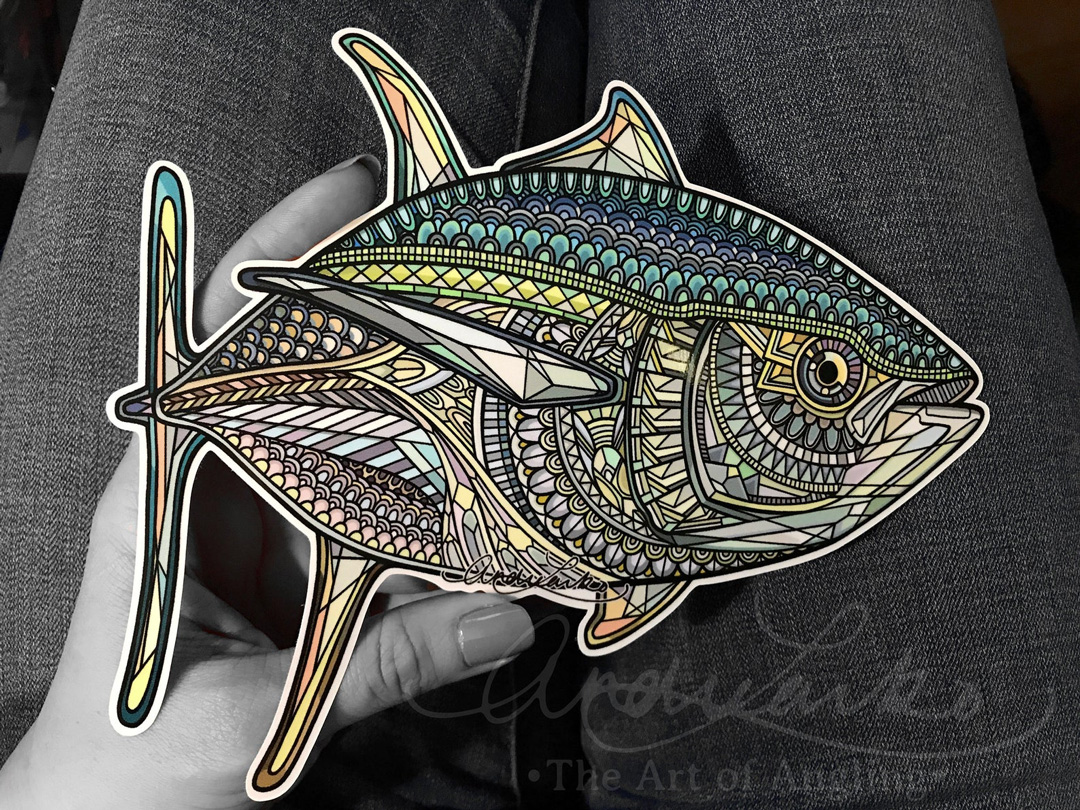 Andrea Larko yellowfin tuna decal