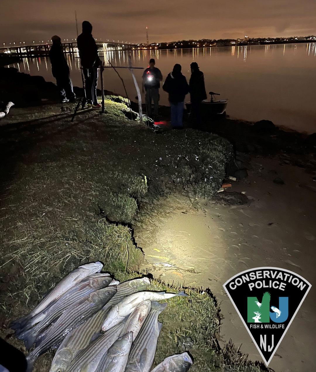 NJ Conservation Police striper bust