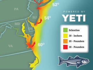 2021 Striper Migration Map May 14, 2021
